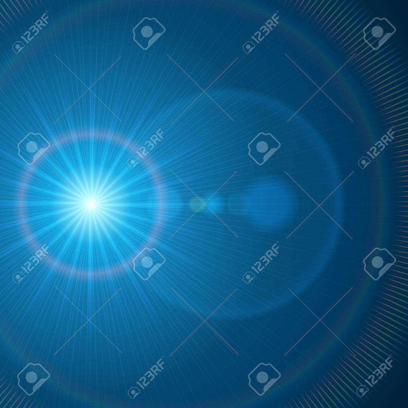 Abstraction light with lens flare vector background Stock Vector - 13908292
