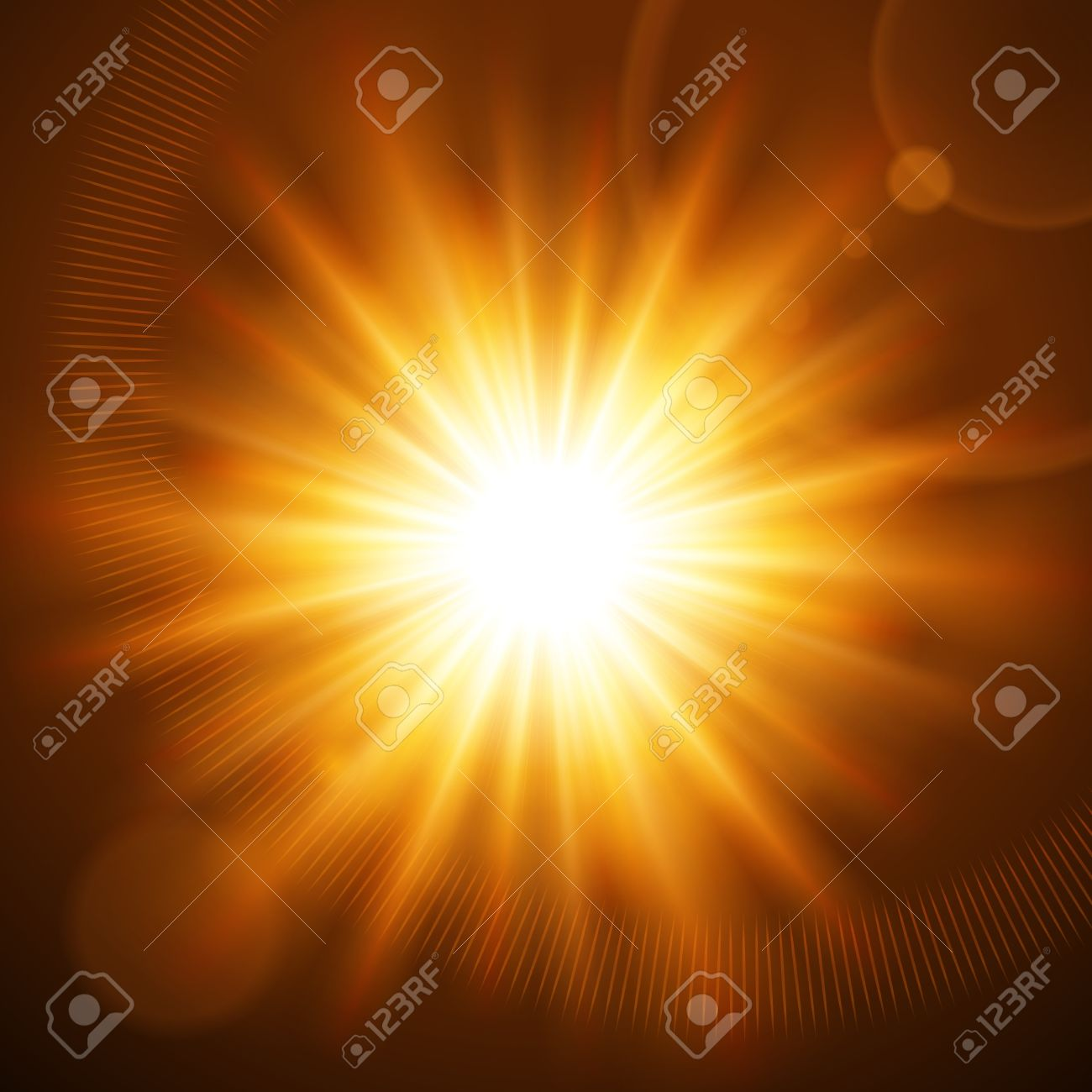 Abstraction light with lens flare vector background Stock Vector - 13908280
