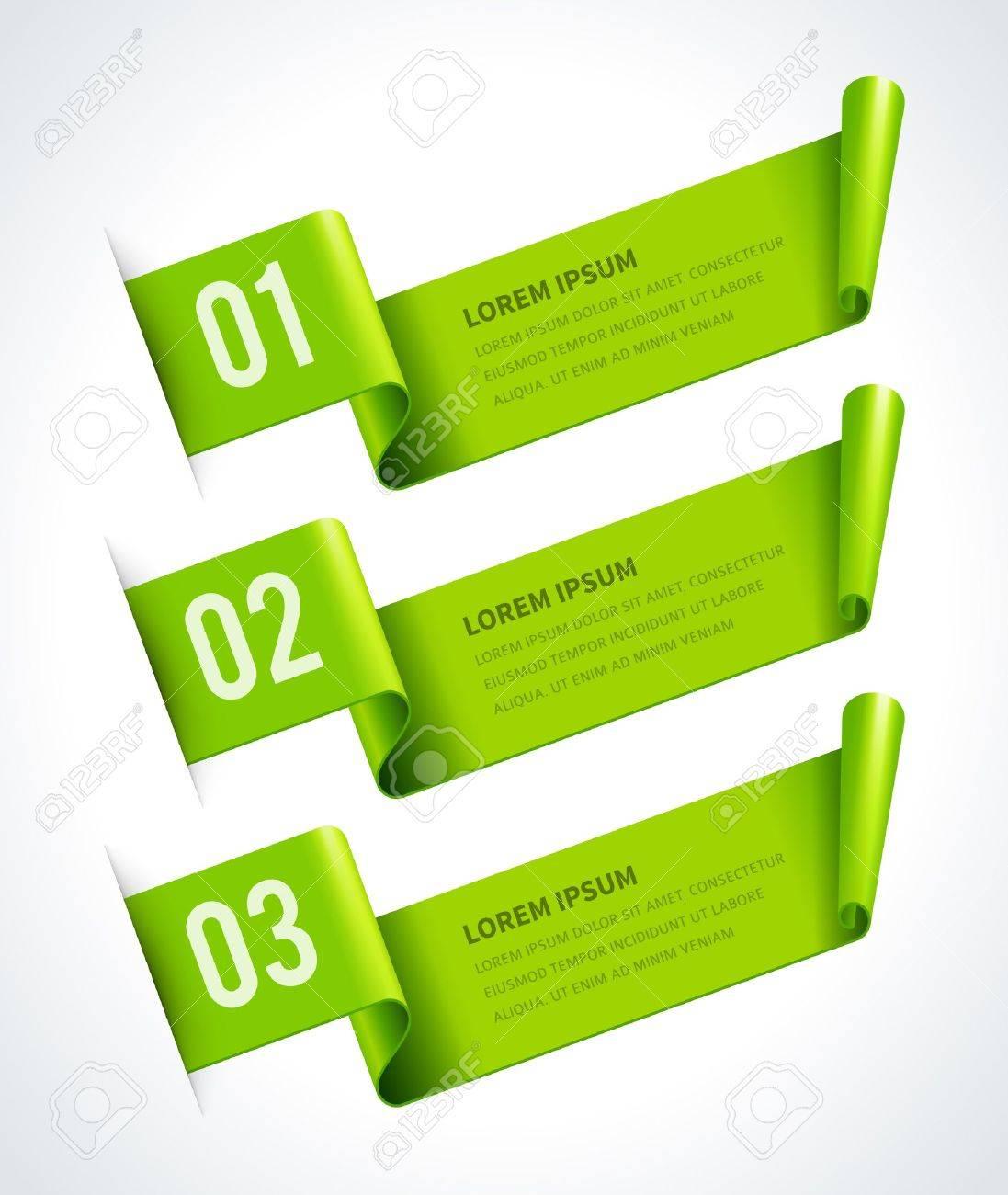 Infographics options design elements  Vector illustration  Scroll paper banner or header numbers website Stock Vector - 21858188