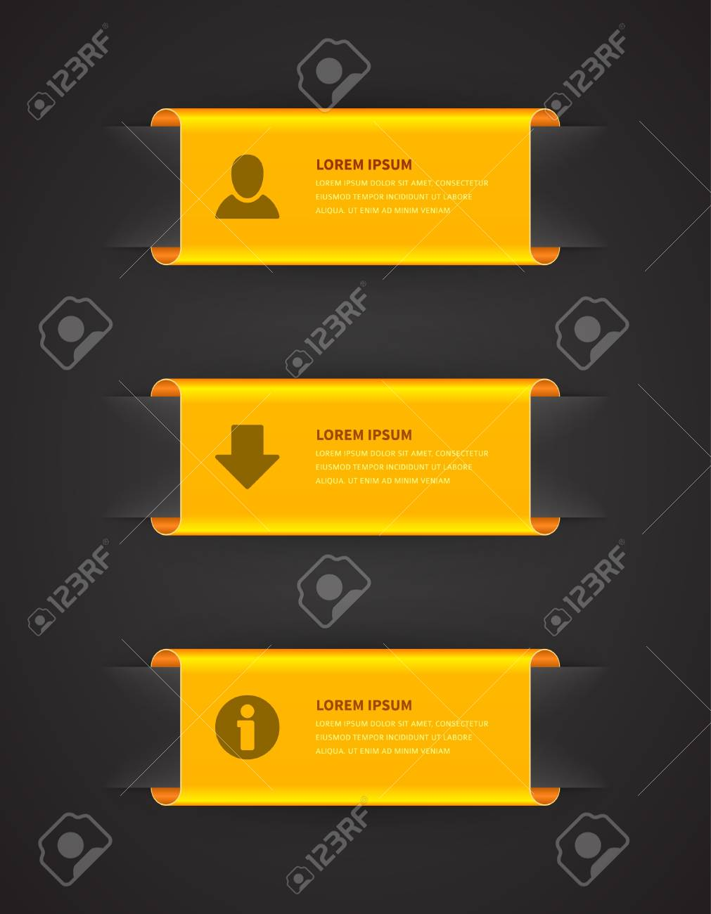 Infographics options design elements Stock Vector - 21853128