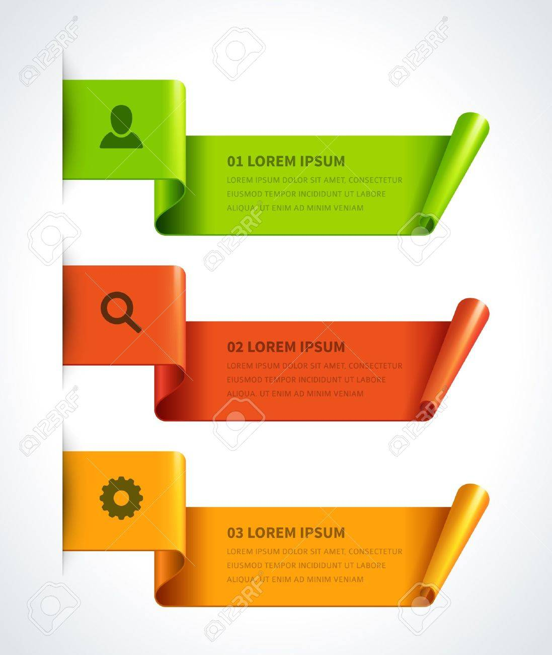 Design elements banner - Infographics Options Design Elements Vector Illustration Scroll Paper Banner Or Header Numbers Website Stock Vector