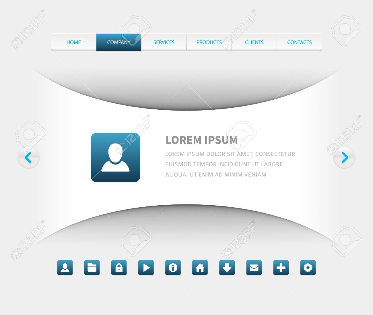 website header design template royalty free cliparts vectors and
