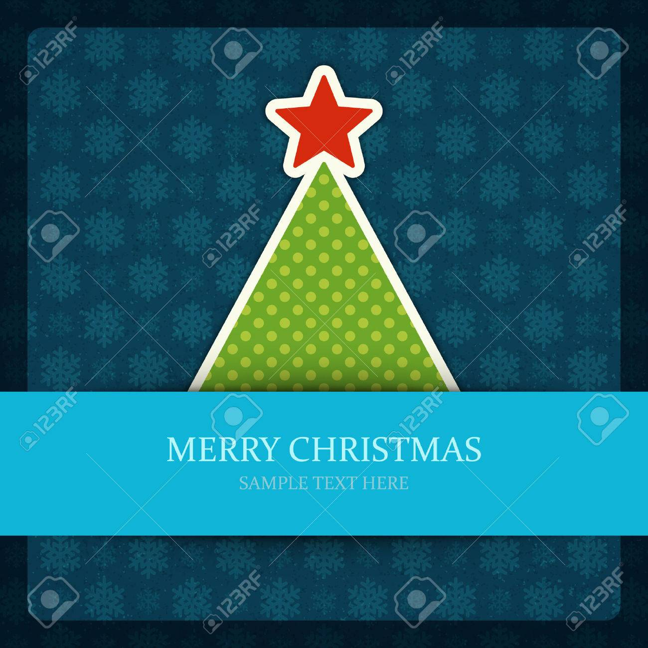 Christmas tree vector background  Christmas card or invitation Stock Vector - 22964525