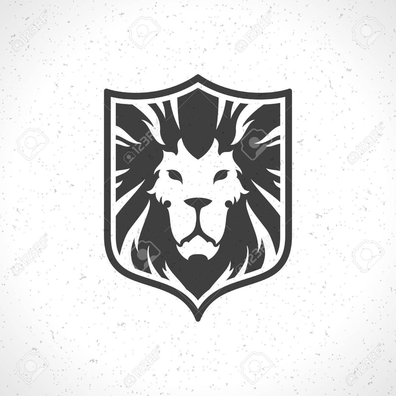 Shirt design vector - Lion Face Icon Emblem Template For Business Or T Shirt Design Vector Vintage Design
