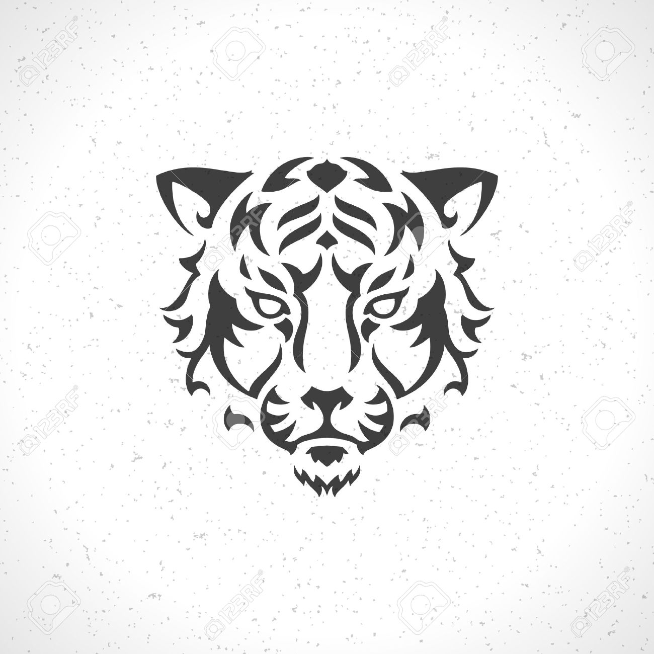 Tiger face icon emblem template mascot symbol for business or tiger face icon emblem template mascot symbol for business or shirt design vector vintage design biocorpaavc