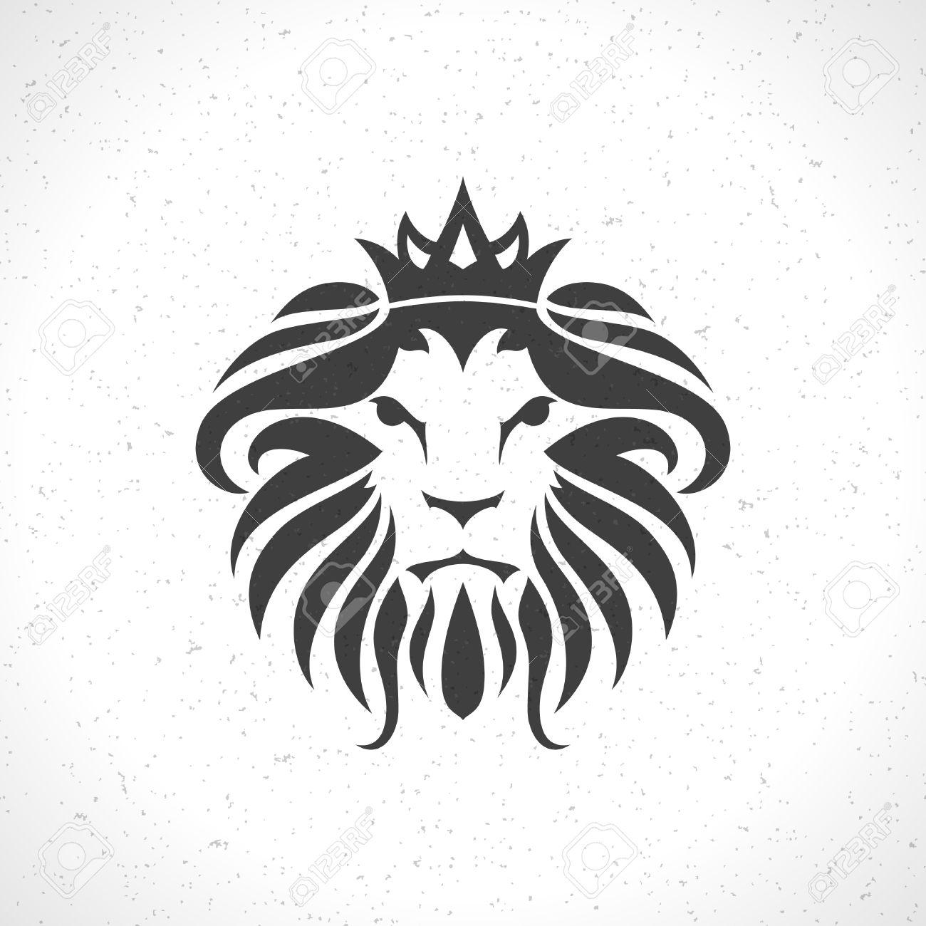 Cara Del León Plantilla Icono Emblema Para El Diseño De Negocios O ...