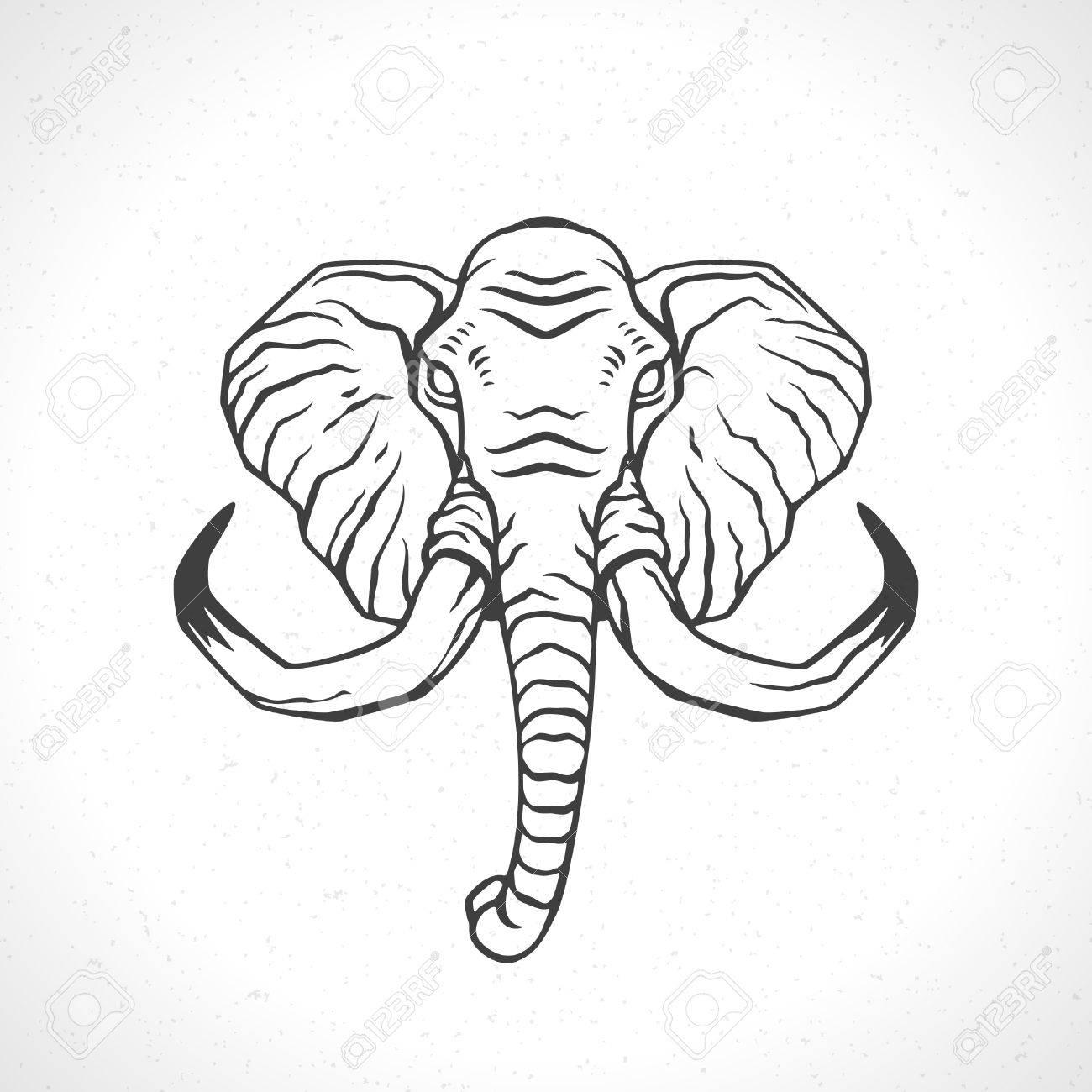 Bonito Página Para Colorear Elefante Con Diseño Regalo - Ideas Para ...
