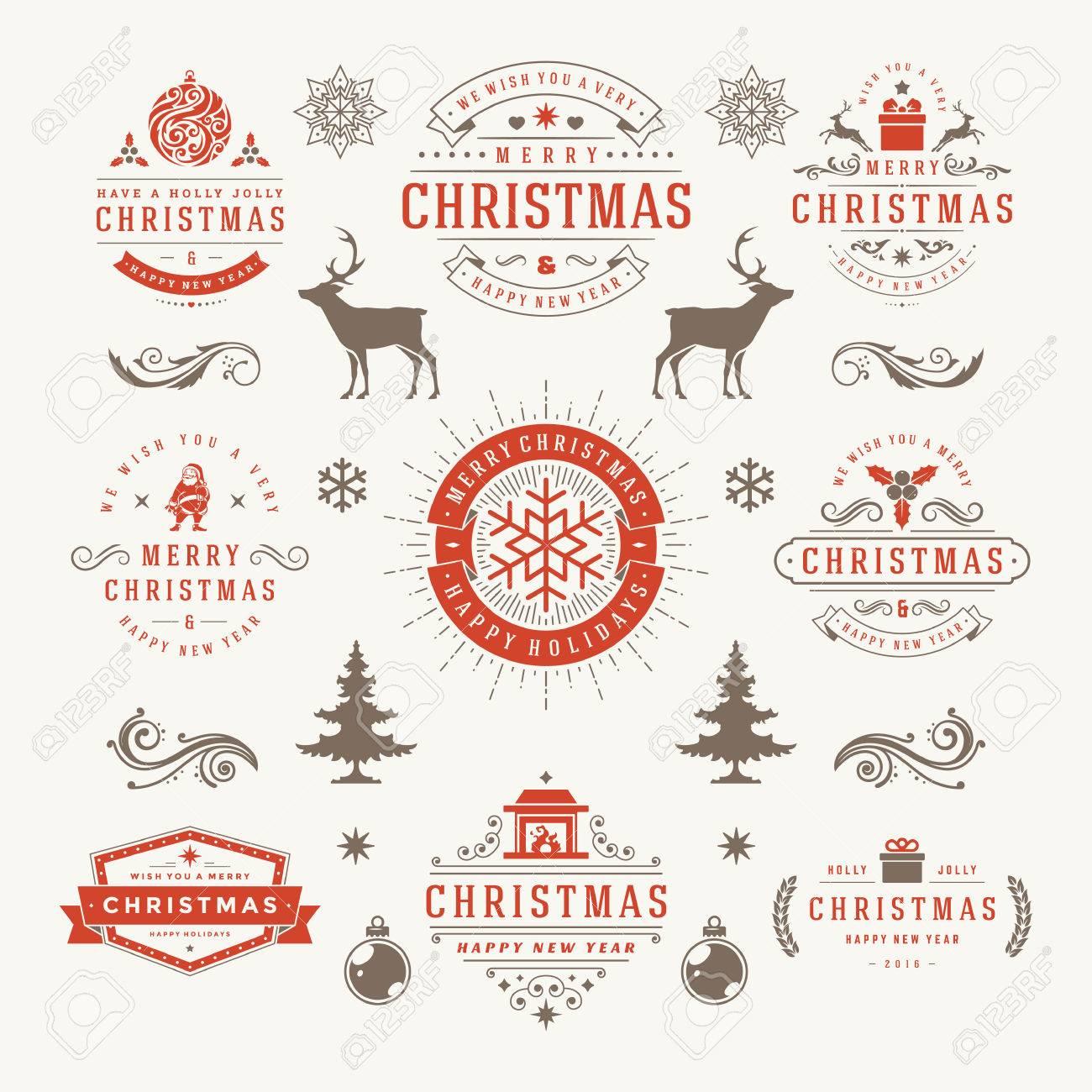 Etiketten Frohe Weihnachten.Stock Photo