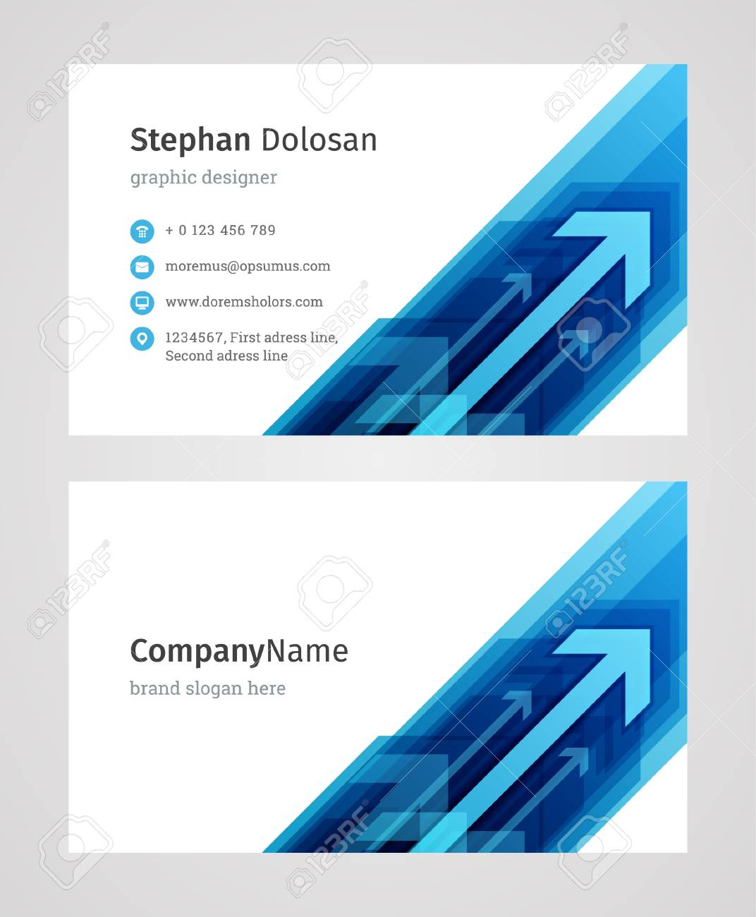 Creative Business Card Template Modern And Clean Corporate Design