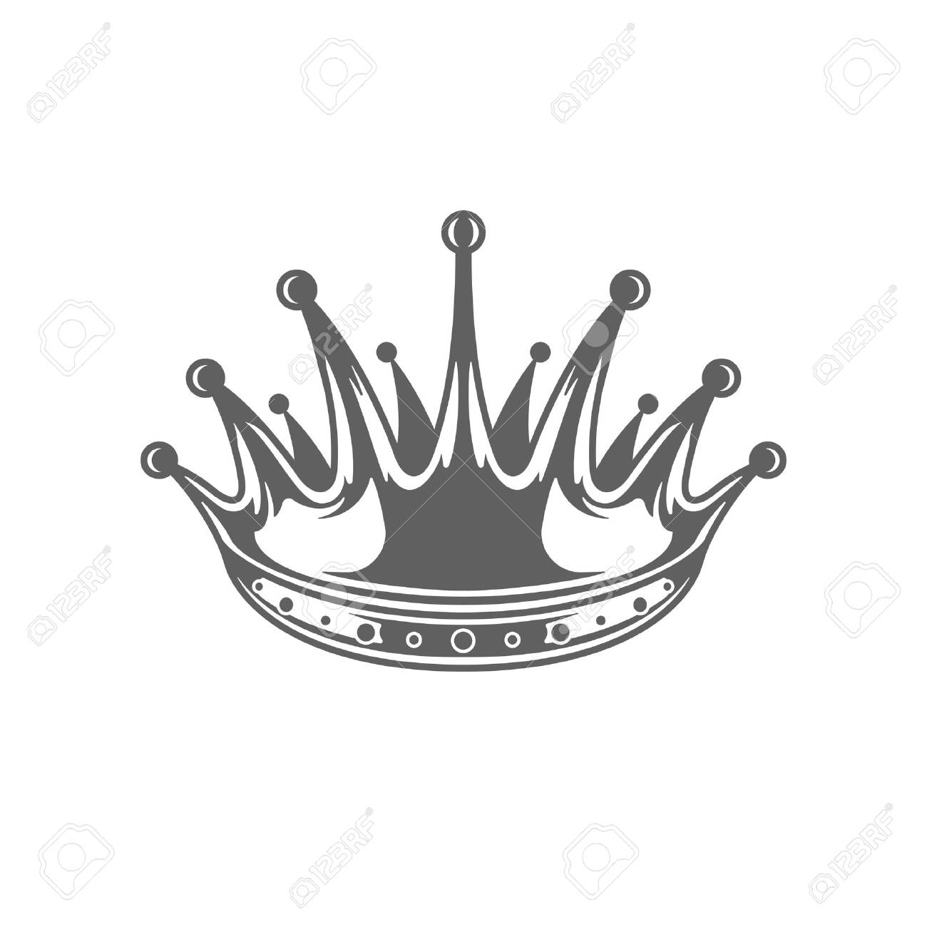 king crown logo vector illustration royal crown silhouette isolated rh 123rf com royalty vector free royalty vector png