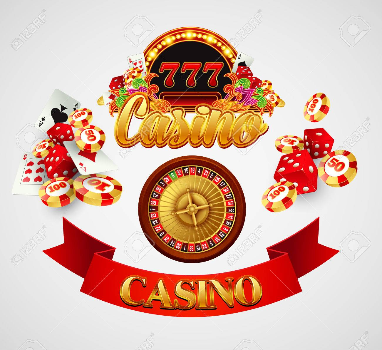 Traditional european roulette table vector illustration stock vector - American Roulette Casino Background With Cards Chips Craps And Roulette Vector Illustration