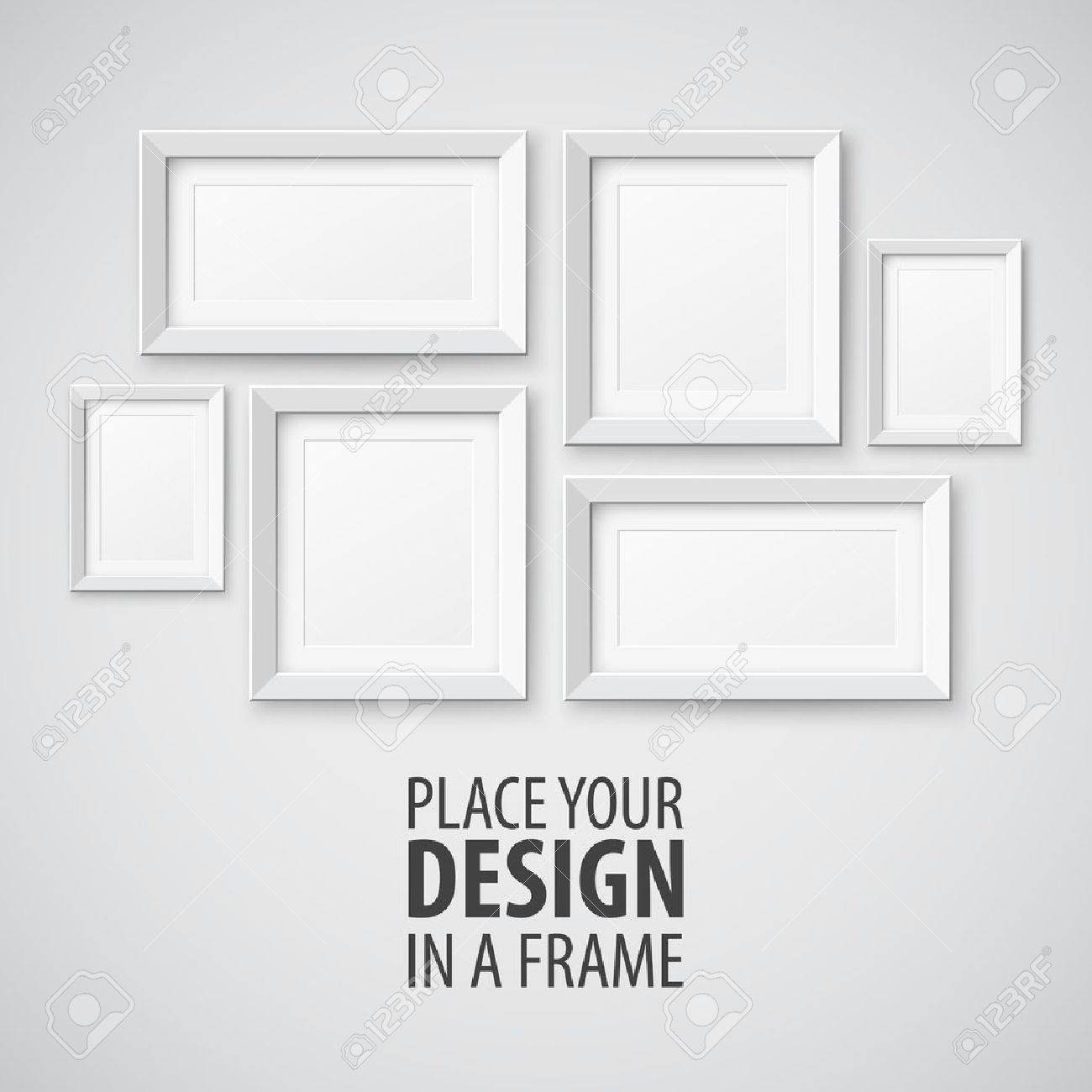 Vector Conjunto De Marcos De Cuadros. Plantilla Para El Diseño De ...