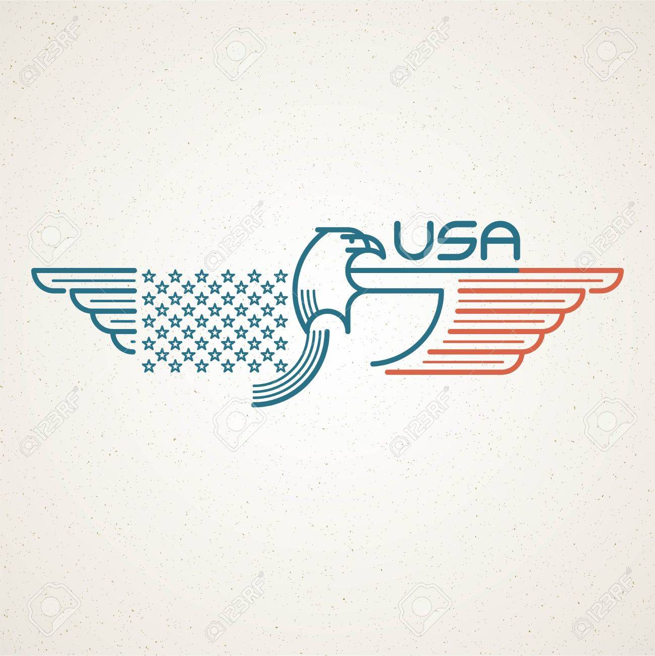 Made in the usa symbol with american flag and eagle templates made in the usa symbol with american flag and eagle templates emblems vector illustration stock buycottarizona