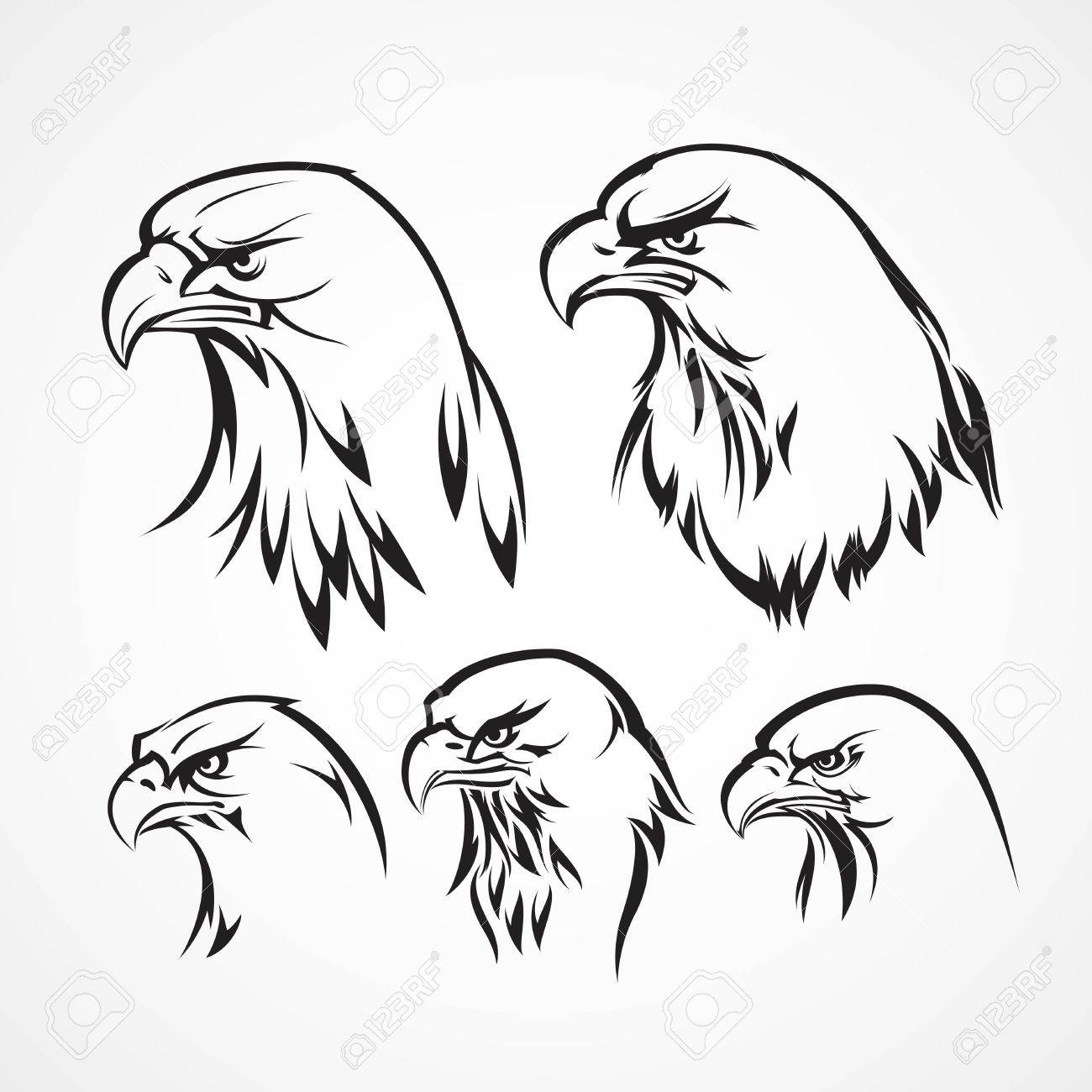 Eagle Badge Template. Silhouette. Vector Illustration Royalty Free ...