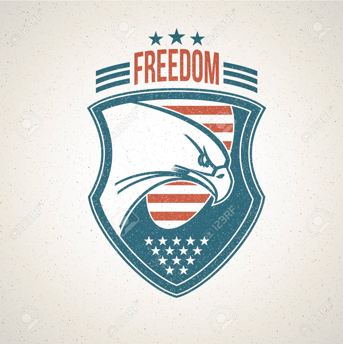 Shield Icon With An American Eagle Symbol Vector Illustration
