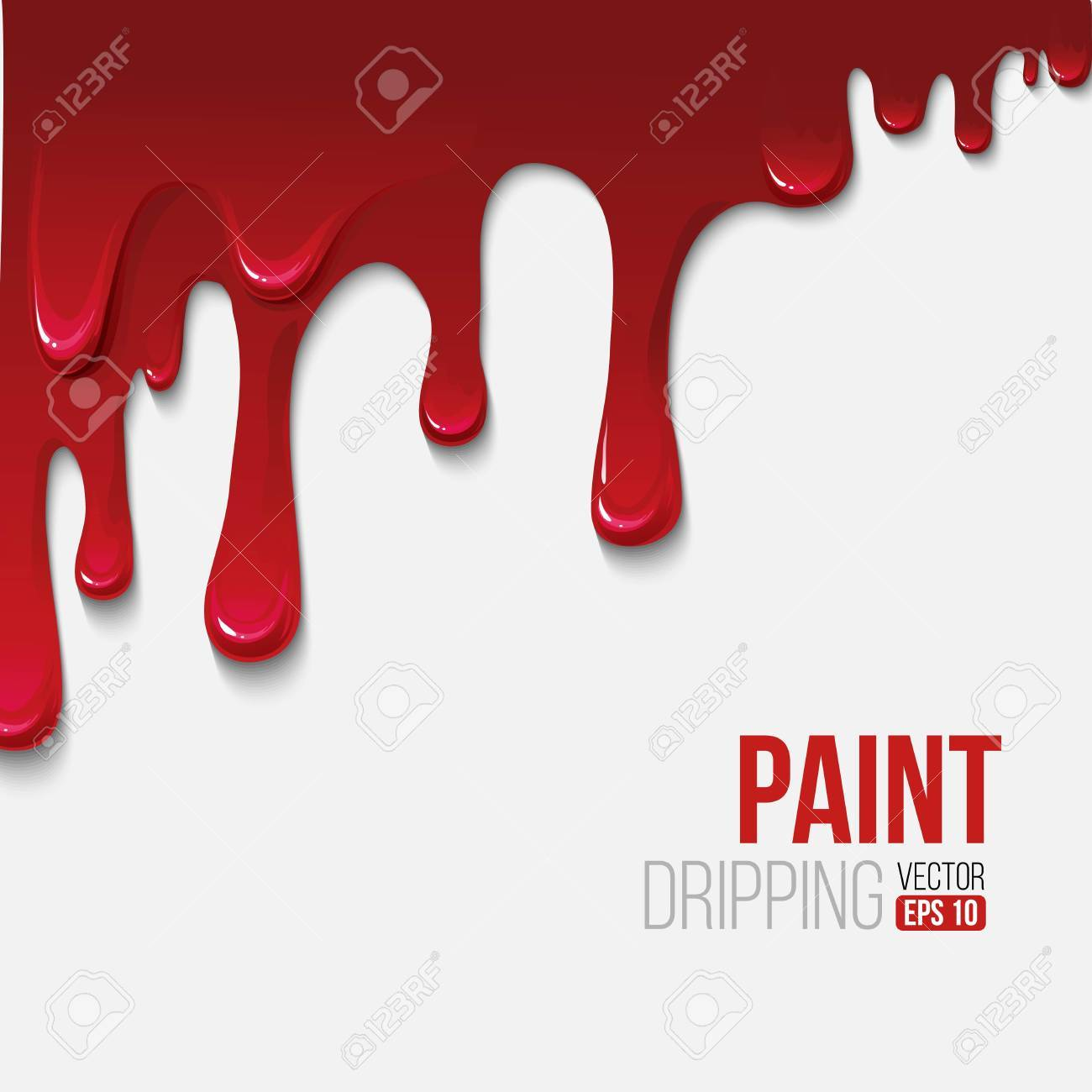 Paint colorful dripping background, vector illustration - 40862866