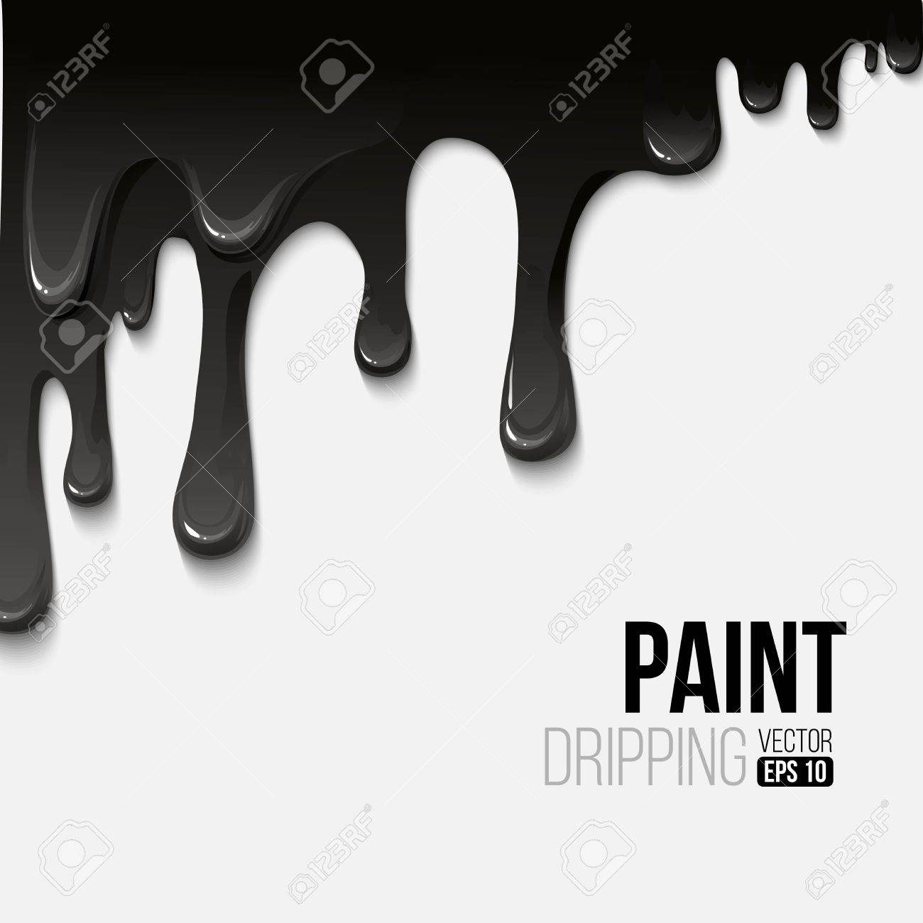 Paint colorful dripping background, vector illustration - 40862870