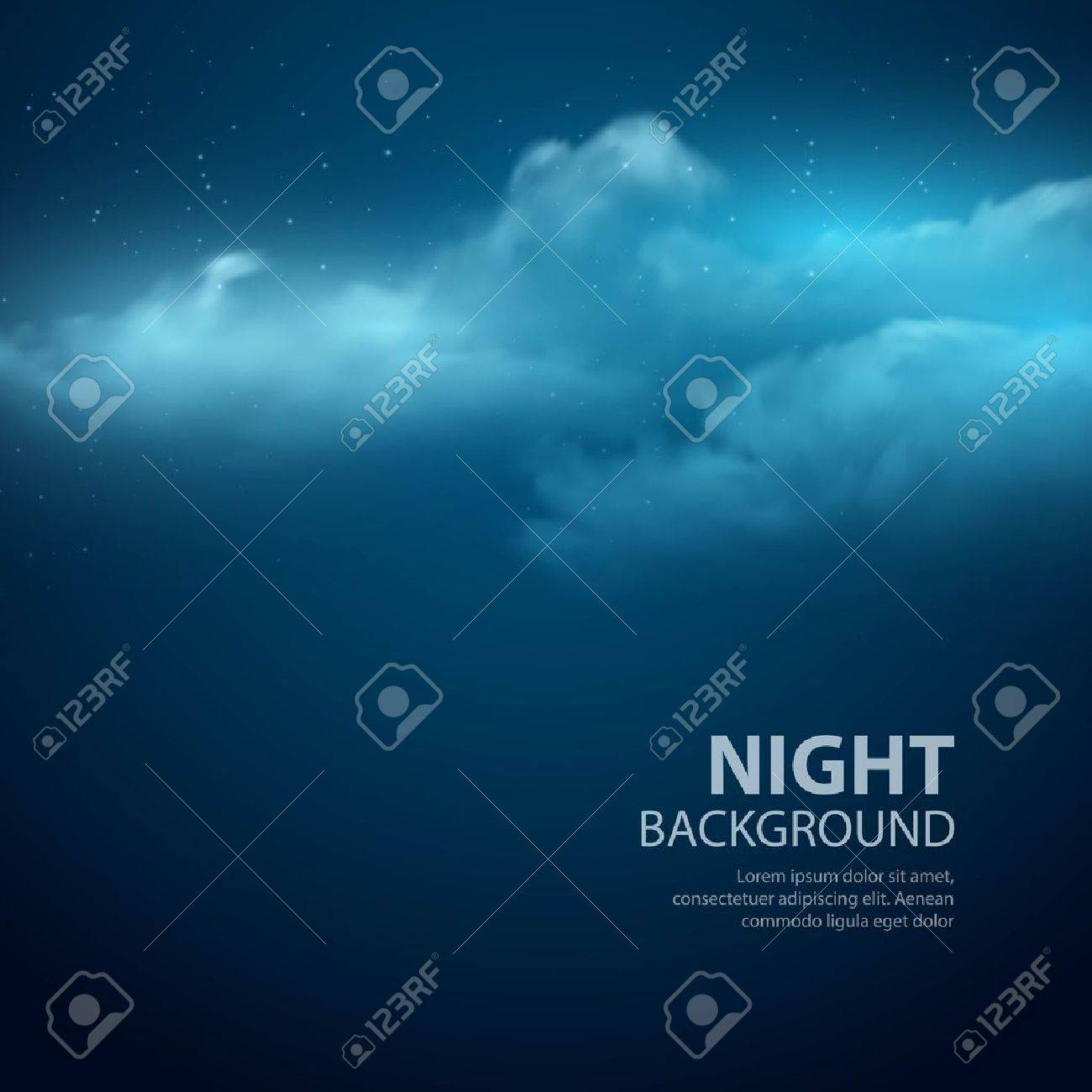 Night sky abstract background. Vector illustration - 41726256