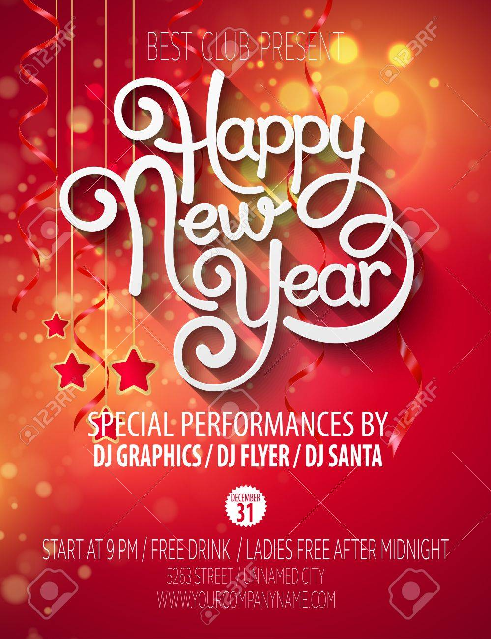 New Year party poster - 44478842