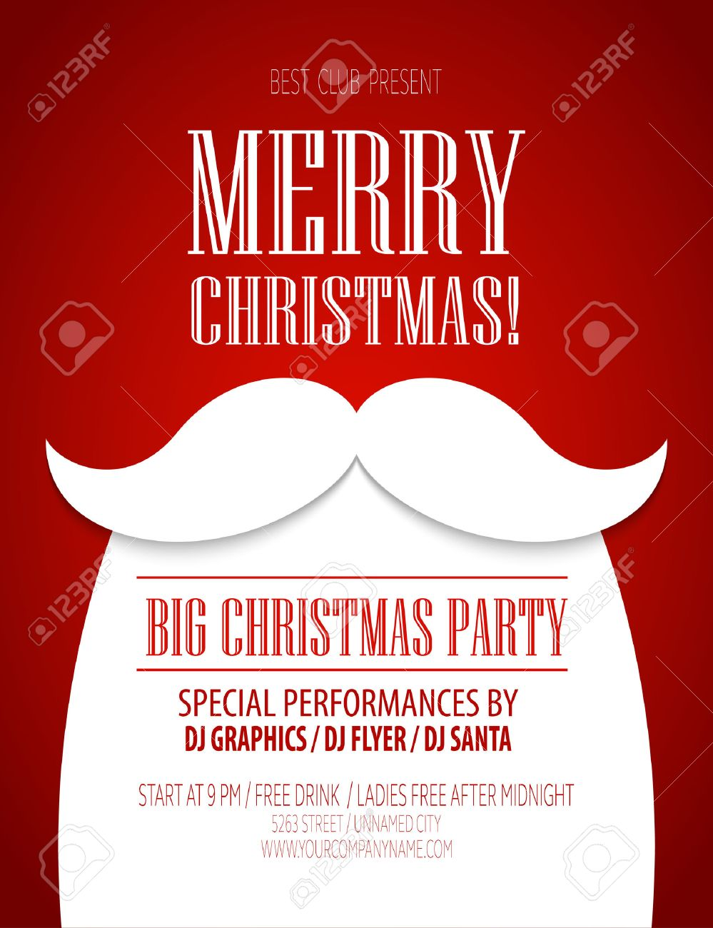 Christmas Party Poster.Christmas Party Poster