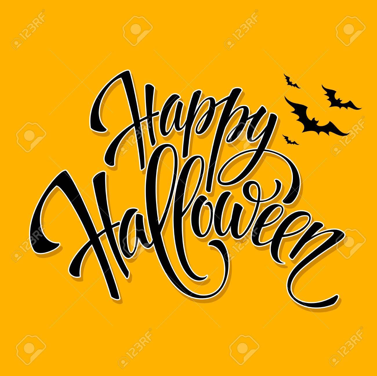happy halloween message design background vector illustration