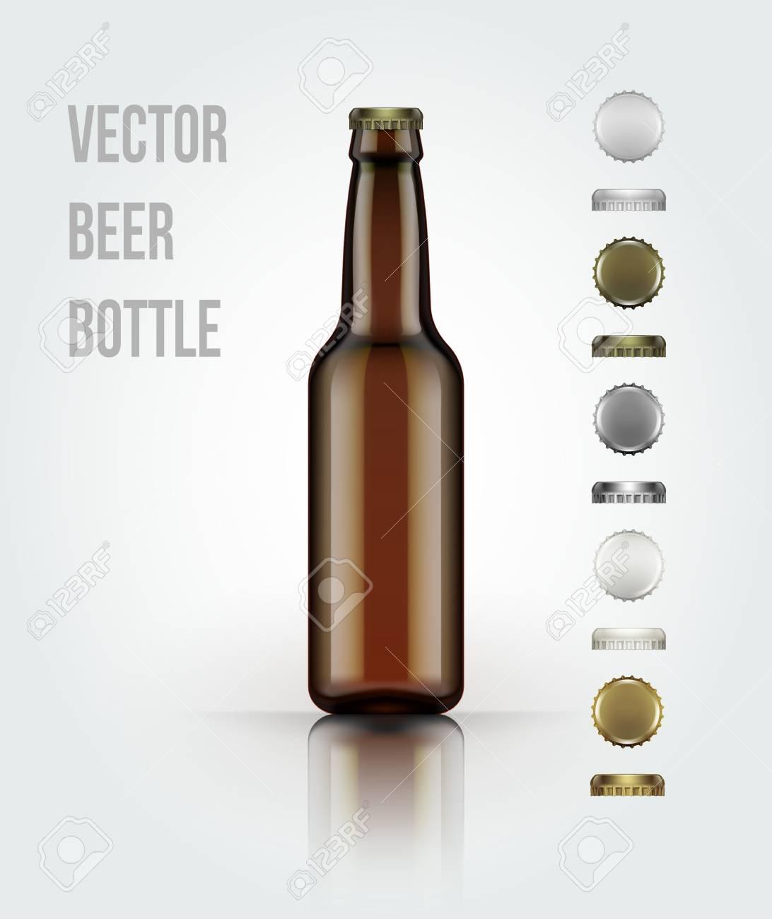 bouteille de bière en verre vierge pour un nouveau design. illustration  vectorisée eps 10
