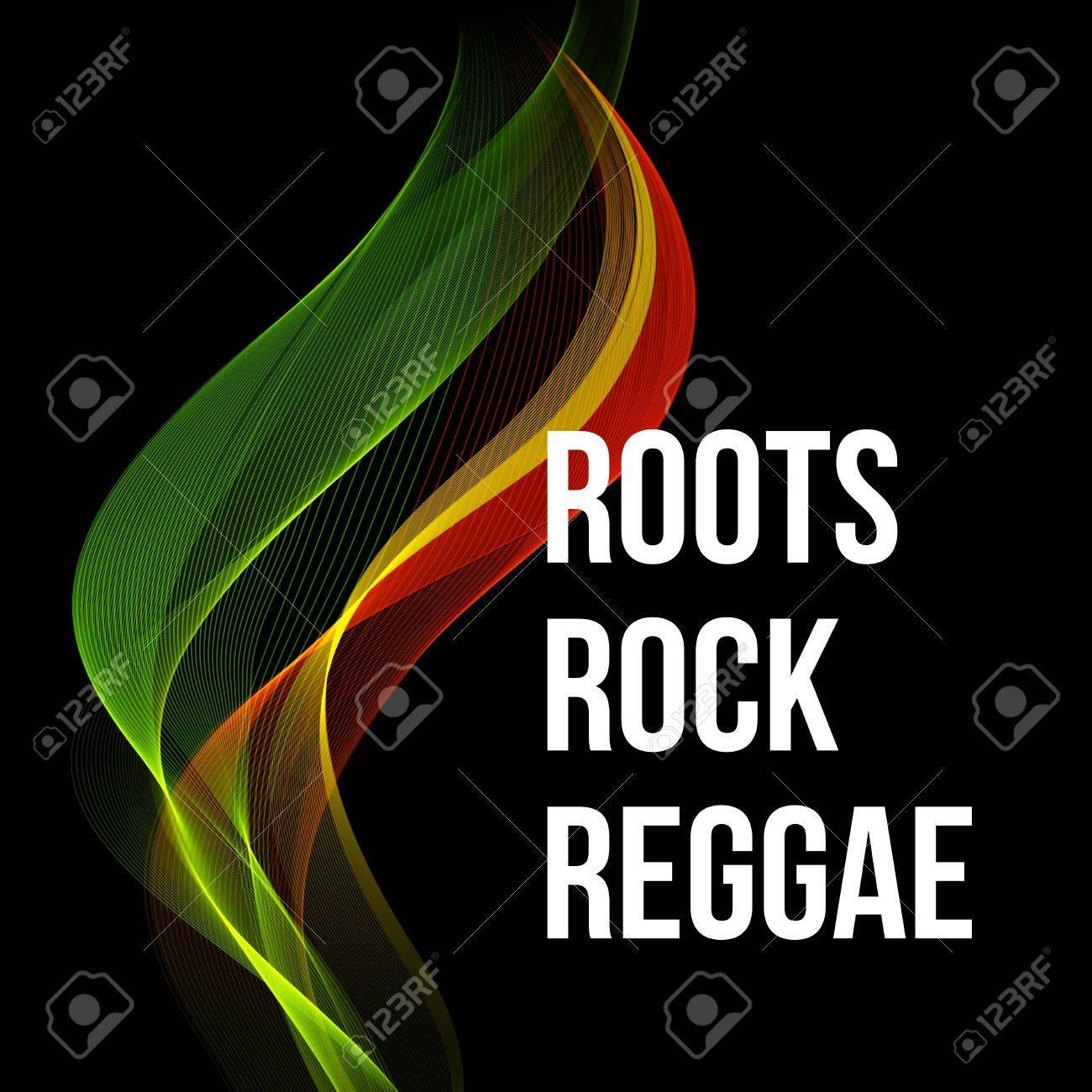 Poster design eps - Reggae Color Wave Poster Design Vector Illustration Eps 10 Stock Vector 46601567