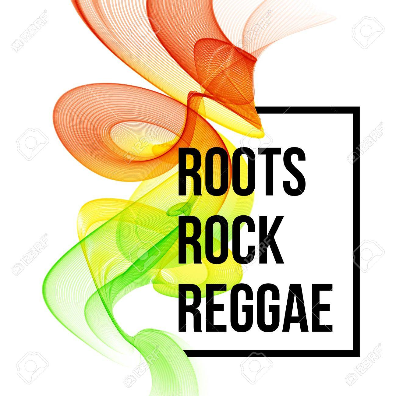 Poster design eps - Reggae Color Wave Poster Design Vector Illustration Eps 10 Stock Vector 46601569