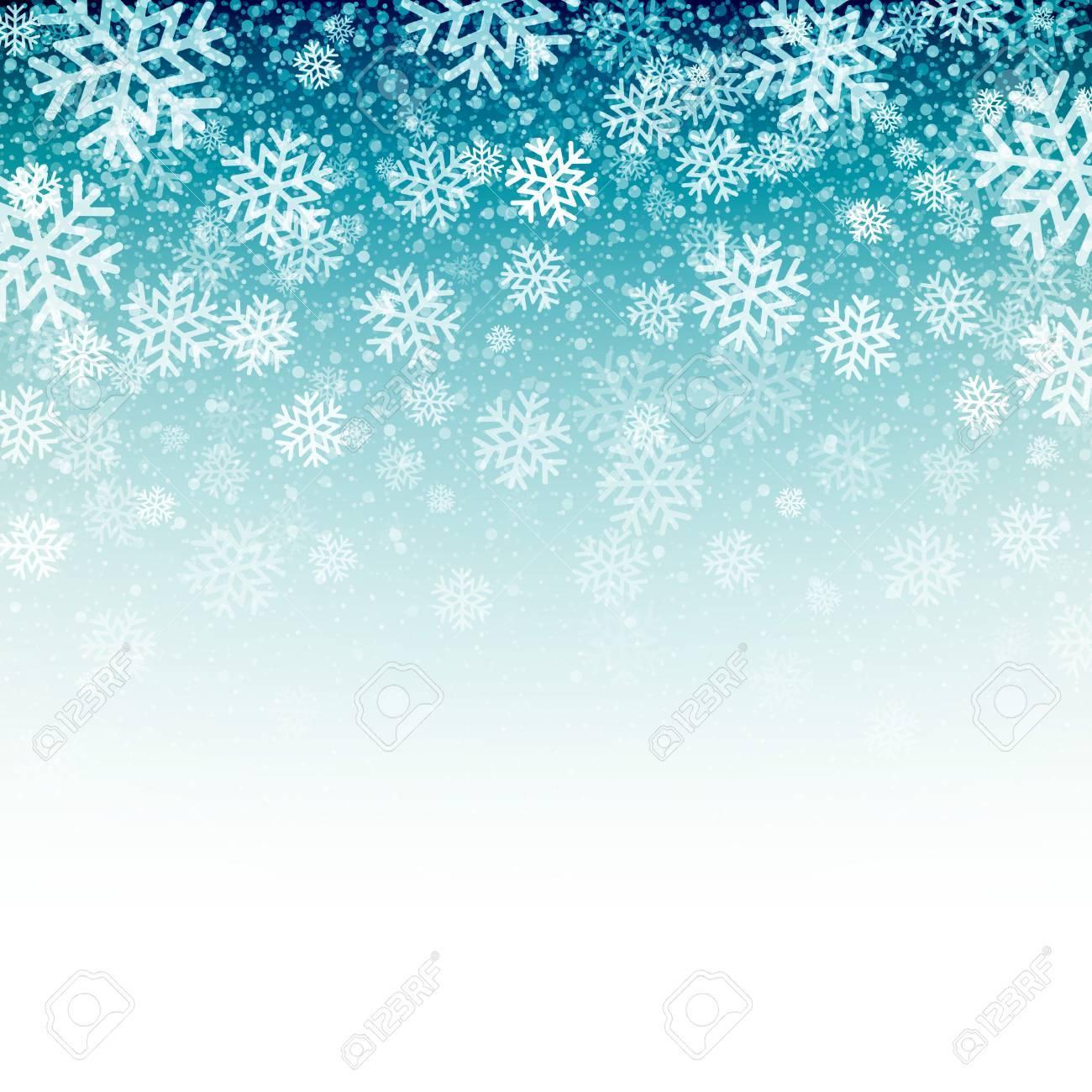 青色の背景の雪に。ベクトル イラスト eps 10 ロイヤリティフリー