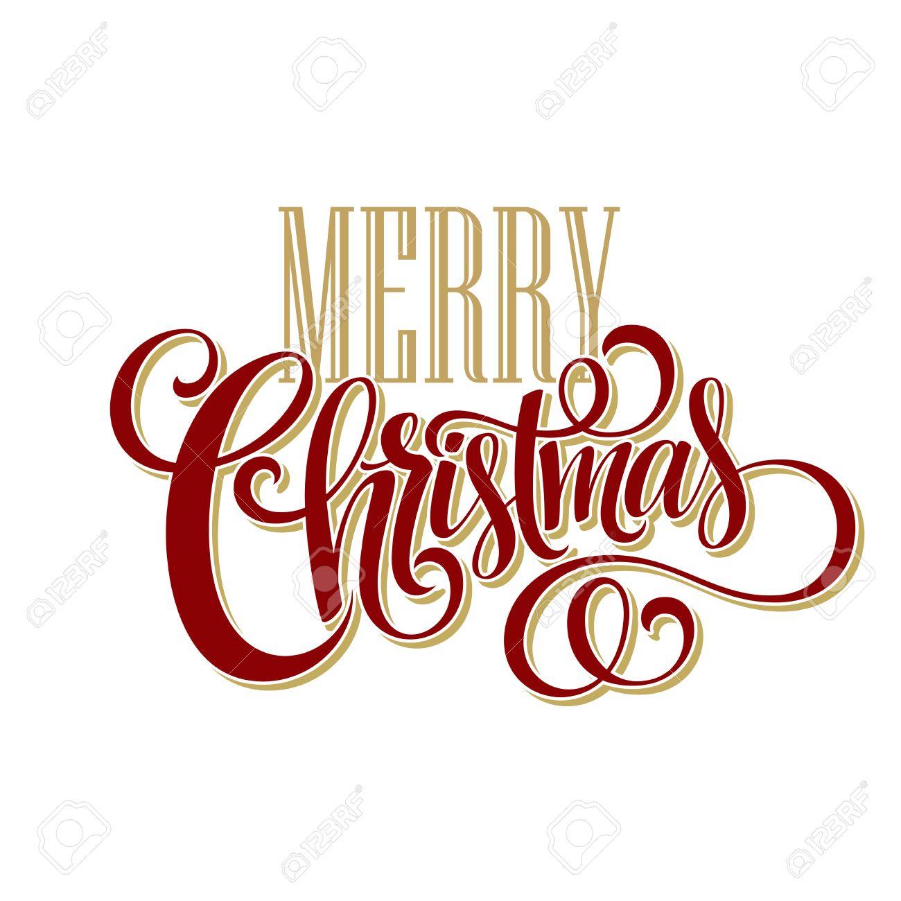 Christmas Lettering.Merry Christmas Lettering Design Vector Illustration Eps10