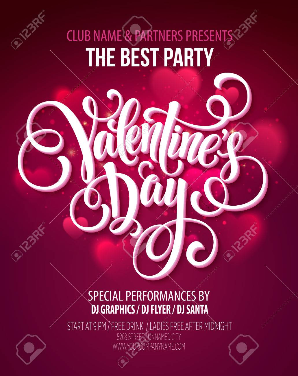 Valentines Day Party illustration Stock Vector - 50354098