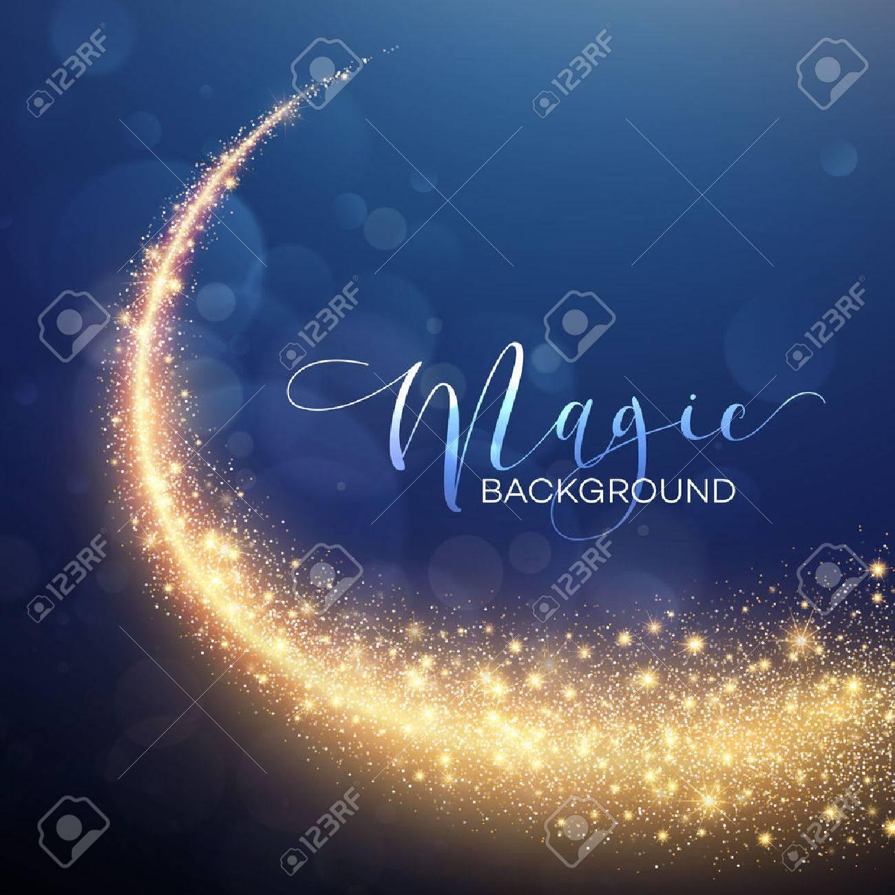 Starry Glitter Trail Background. Vector illustration EPS10 - 50526863
