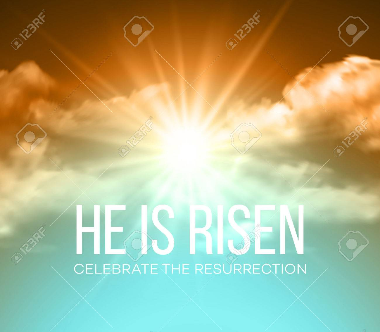 He is risen. Easter background. Vector illustration EPS10 - 52029045