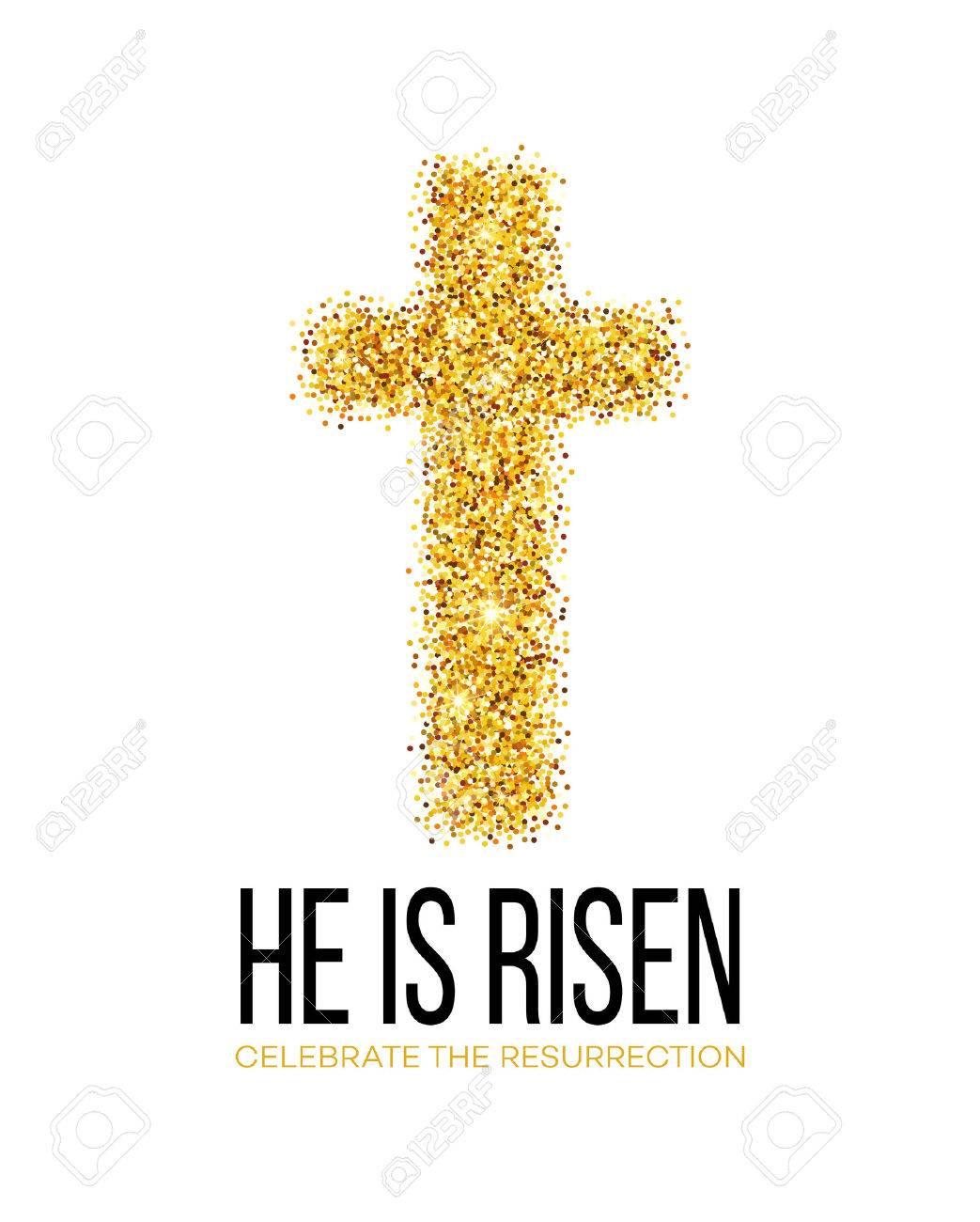 He is risen. Easter background. Vector illustration EPS10 - 52029047