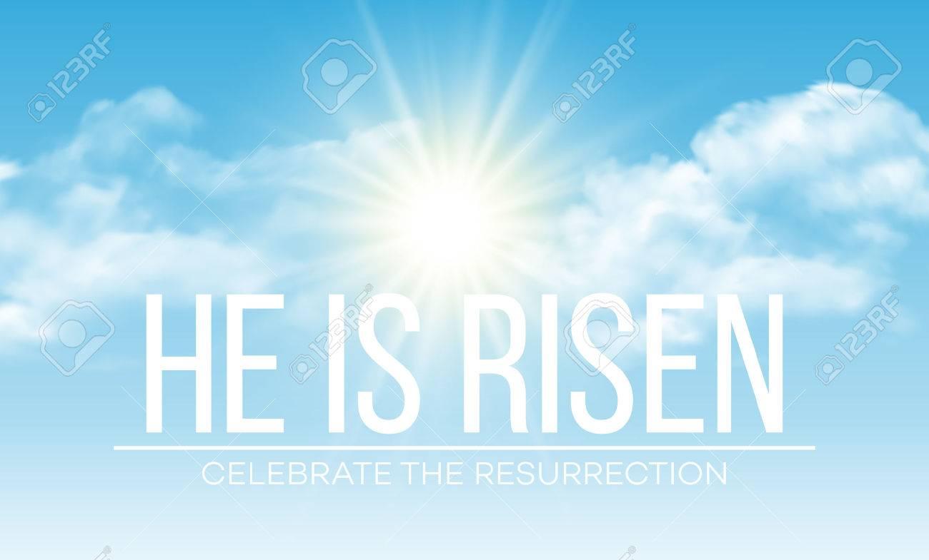 He is risen. Easter background. Vector illustration EPS10 - 52029414