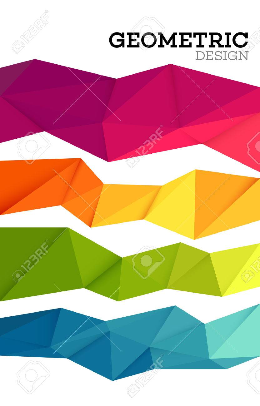 Abstract geometric triangle low poly set. Vector illustration EPS10 - 53188301