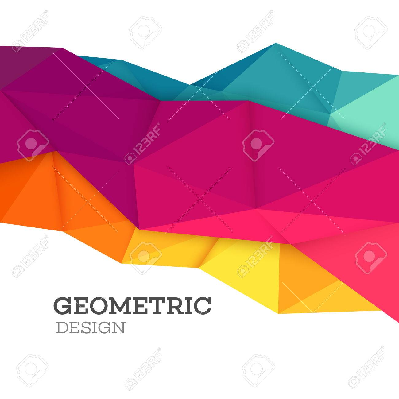 Abstract geometric triangle low poly set. Vector illustration EPS10 - 53188308