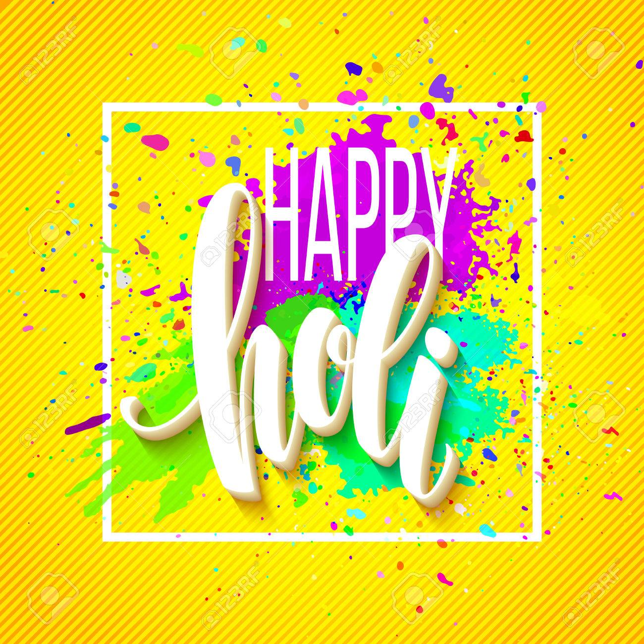 Happy holi festival of colors greeting background with colorful happy holi festival of colors greeting background with colorful holi powder paint clouds and sample text kristyandbryce Image collections