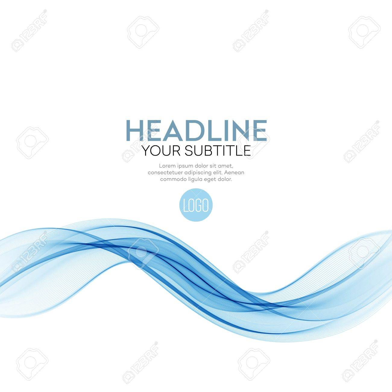 Abstract vector background, blue transparent waved lines for brochure, website, flyer design EPS10 - 59881241