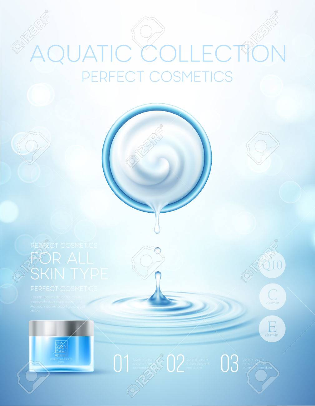 Design cosmetics product advertising. Vector illustration - 78765810