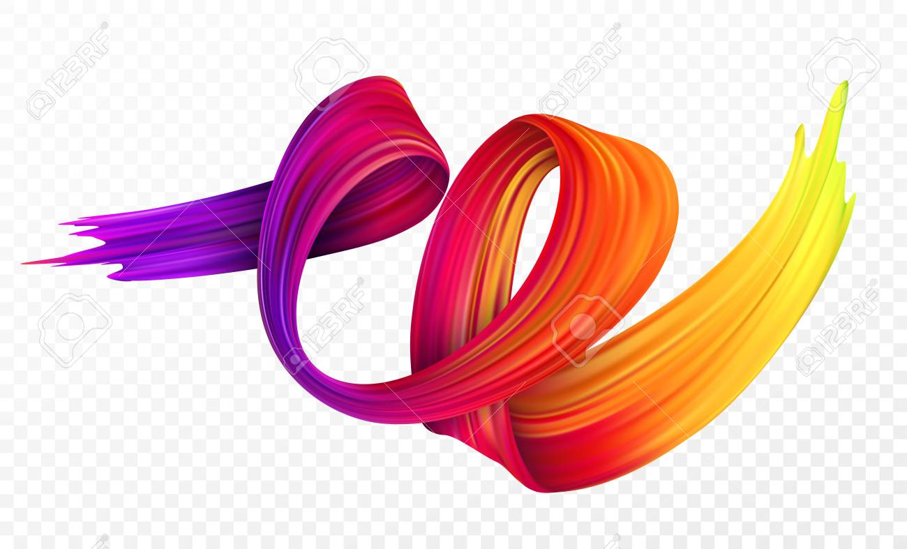 Color brushstroke oil or acrylic paint design element for presentations, flyers, leaflets, postcards and posters. Vector illustration - 86914141