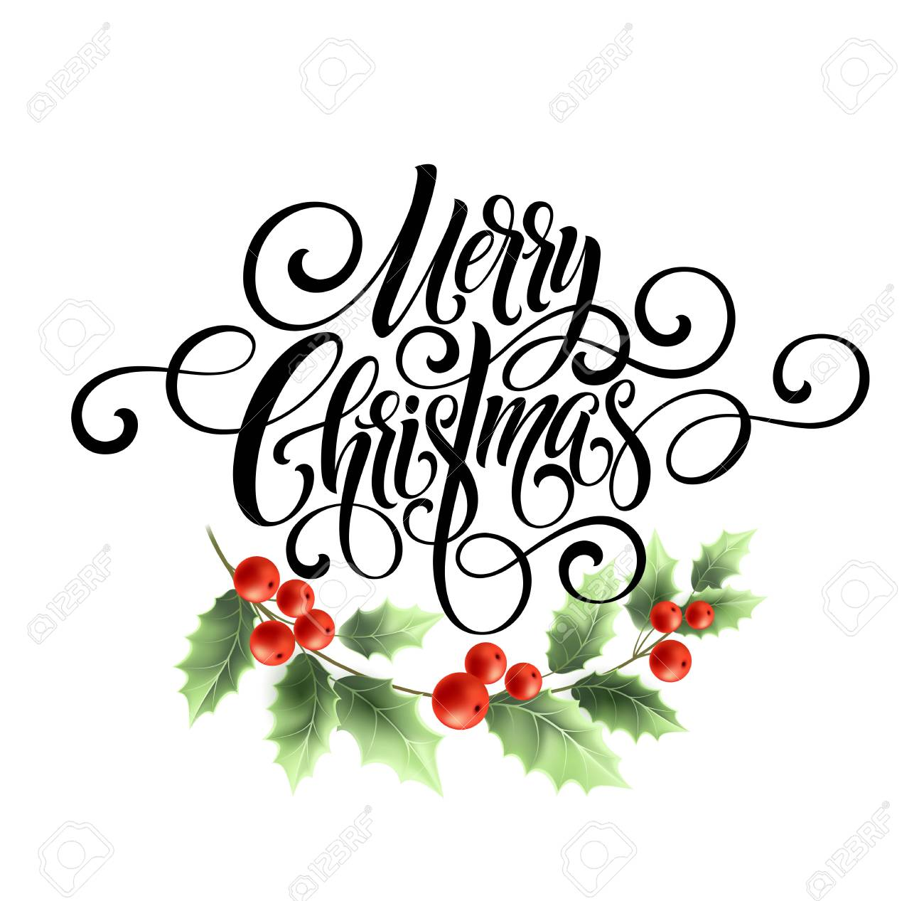 Free Merry Christmas Images.Merry Christmas Handwriting Script Lettering Christmas Greeting