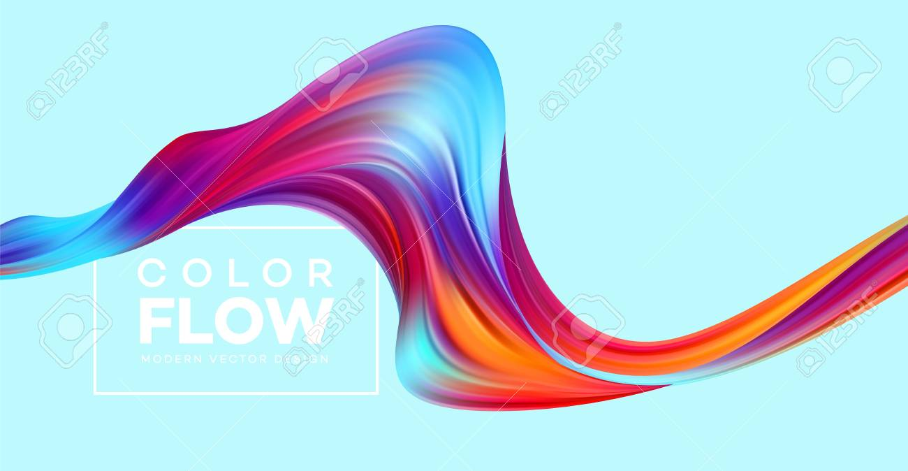 Modern colorful flow poster. Wave Liquid shape color background. Art design for your design project. Vector illustration EPS10 - 110120141
