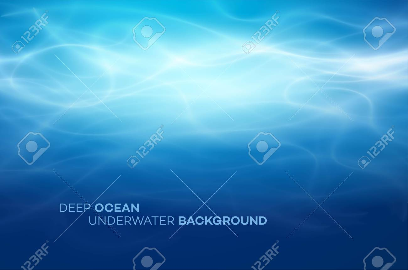 Blue deep water and sea abstract natural background. Vector illustration EPS10 - 120728338