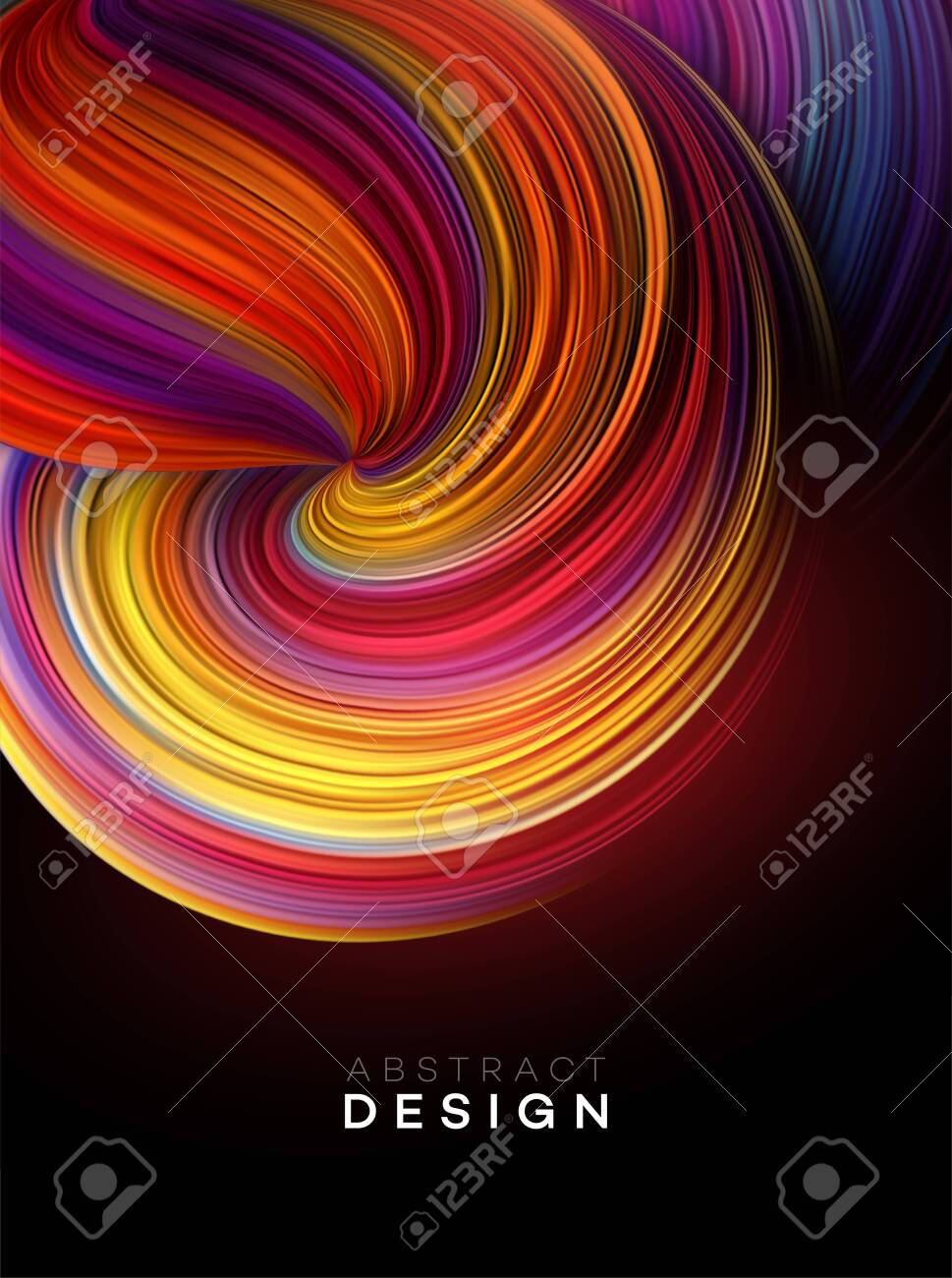 Color Flow Abstract shape poster design. Vector illustration EPS10 - 124060770