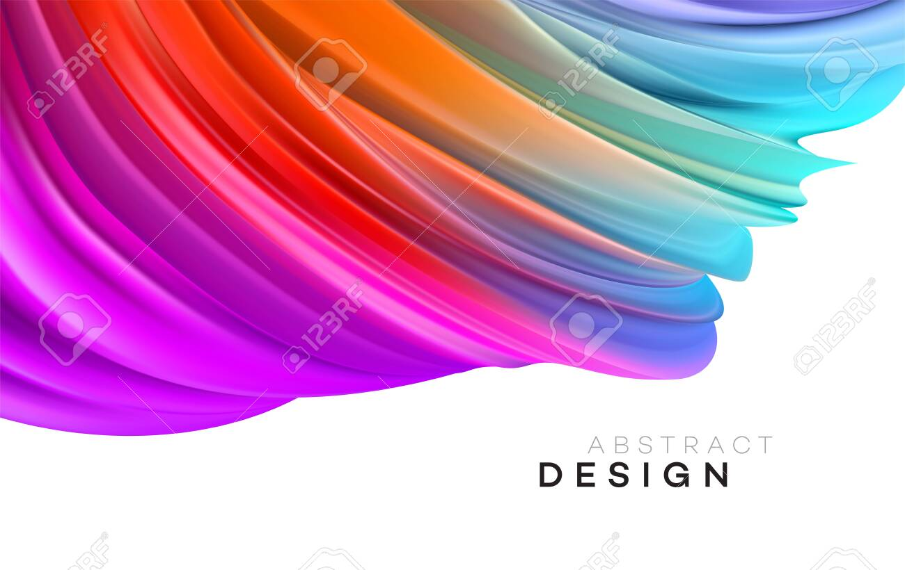 Color Flow Abstract shape poster design. Vector illustration EPS10 - 124060776