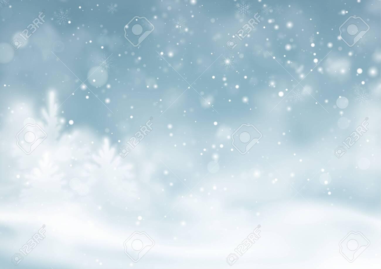 Christmas winter snowy landscape background. Winter snow dust background. Vector illustration EPS10 - 149845600