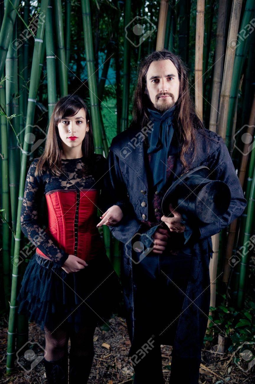 Gothic couple Stock Photo - 8101863