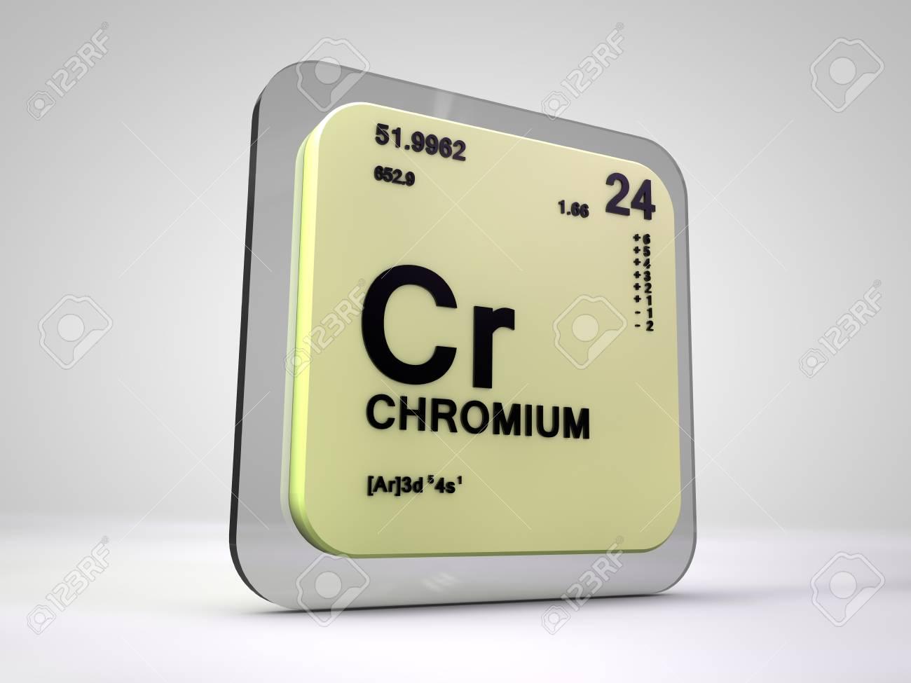 Chromium Cr Chemical Element Periodic Table 3d Render Stock