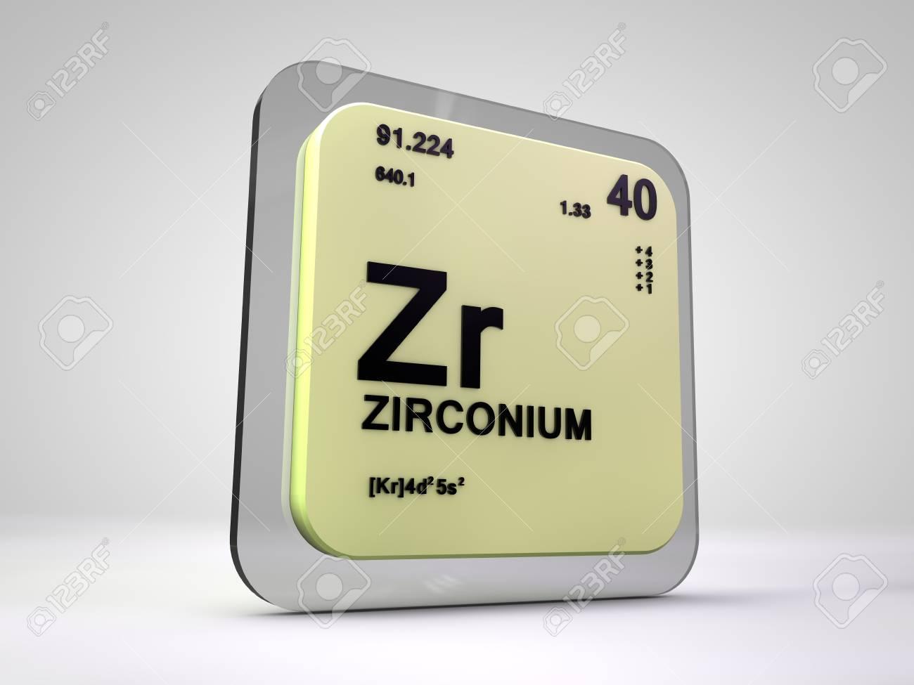 Zirconium zr chemical element periodic table 3d render stock stock photo zirconium zr chemical element periodic table 3d render urtaz Gallery